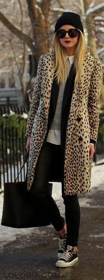 We can really get behind a cheetah coat