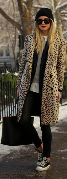 We can really get behind a cheetah coat