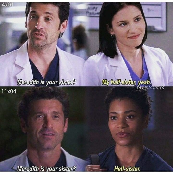 Sometimes i wonder if Mer will ever have a brother show up at the hospital