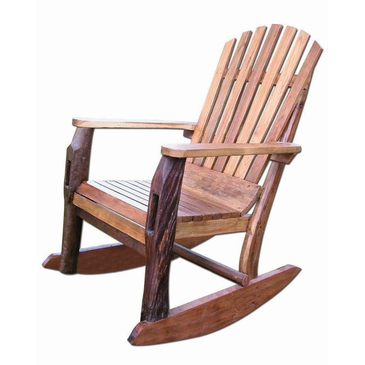 Chris Bruning Signature Collections Handmade TF 0483 Brown Wood Adirondack Rocking  Chair (Thailand)