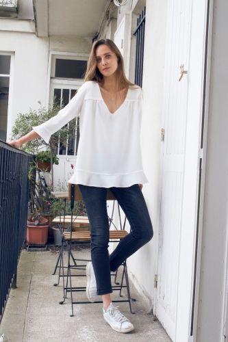 Intemporels - Blouse Marina blanche