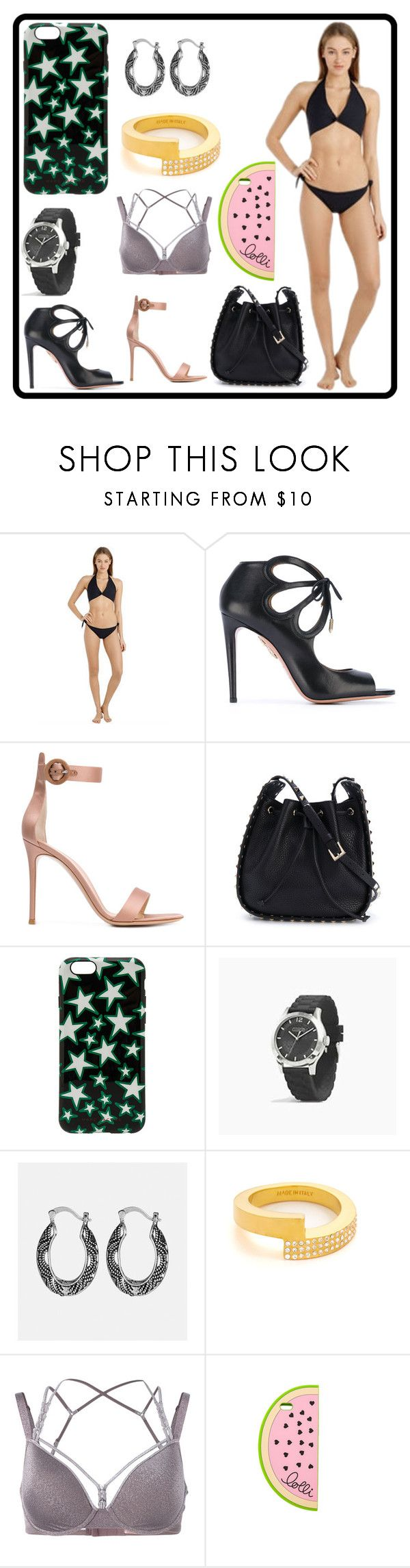 """""""Fashion forever"""" by denisee-denisee ❤ liked on Polyvore featuring Isole & Vulcani, Aquazzura, Gianvito Rossi, Valentino, Marc Jacobs, Coach, Avenue, Vita Fede, Marlies Dekkers and Lolli"""