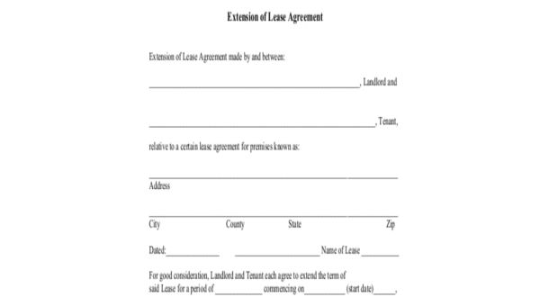 Lease Renewal Form Sample 9 Free Documents In Word Pdf Lease Renewal Lease Words