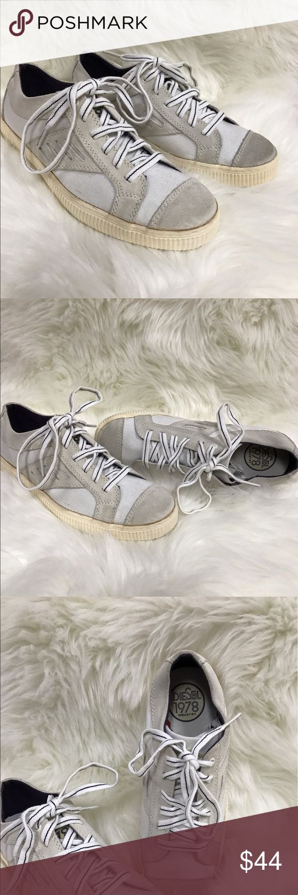 Diesel 1978 Icona Must W Sz 8 Canvas Suede Sneaker Diesel 1978 Icona Must W Men's size 8 canvas and suede lace up sneaker. This item is in good pre- owned condition. Diesel Shoes Sneakers