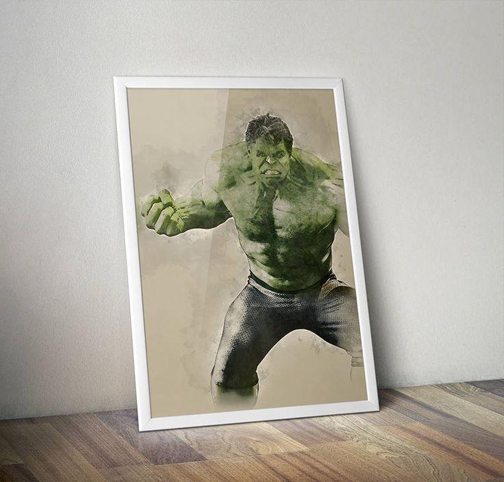 Love a good gift? Get this now! The Incredible Hulk Avengers Water Colour Original Digital Poster https://www.etsy.com/listing/517214206/the-incredible-hulk-avengers-water?utm_source=crowdfire&utm_medium=api&utm_campaign=api