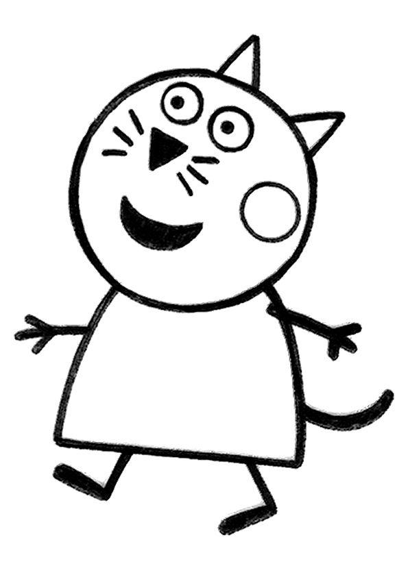 Peppa Pig House Coloring Page In 2020 Peppa Pig Coloring Pages Peppa Pig Colouring Cat Coloring Page