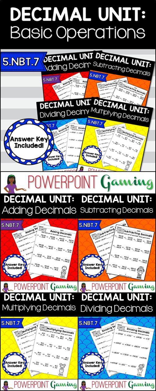 Numbers 1-20 Worksheets Pdf Best  Decimals Worksheets Ideas On Pinterest  Math Fractions  Spelling Worksheets For Year 5 Excel with Free Worksheets On Equivalent Fractions Pdf Decimal Unit  Basic Operations Worksheet Bundle  Nbt Decimals  Worksheetsdividing  Minimal Pairs Worksheets Word