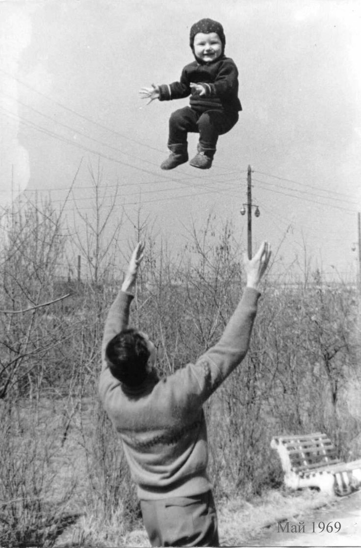 Flying baby, Russia, 1969
