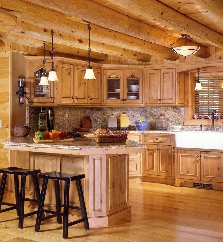 Country Kitchen Yucca Valley: Best 25+ Log Cabin Kitchens Ideas On Pinterest