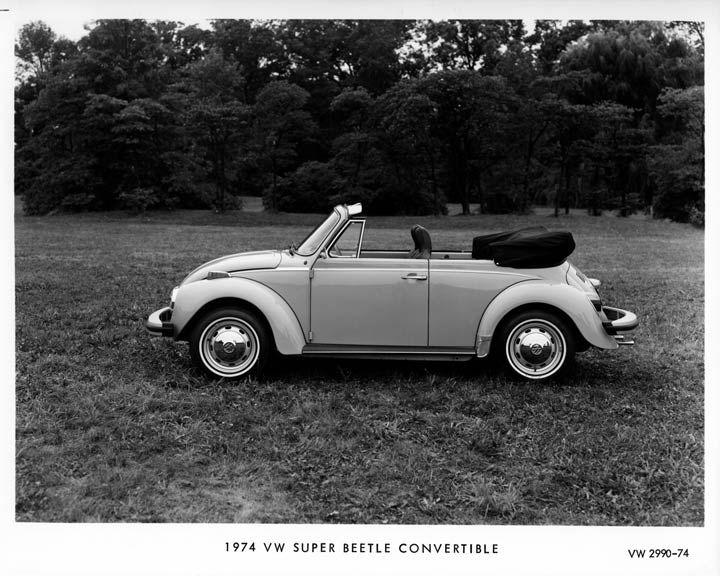 Volkswagen Beetle Convertible >> 1974 Volkswagen Super Beetle Convertible Factory Photo | Beetle | Pinterest