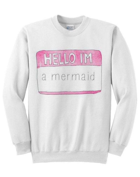 Hey, I found this really awesome Etsy listing at https://www.etsy.com/listing/179901492/mermaid-crewneck-sweater
