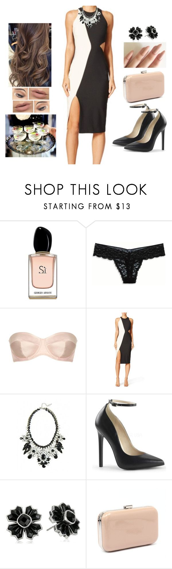 """Official Party Night"" by teodoramaria98 ❤ liked on Polyvore featuring Armani Beauty, American Eagle Outfitters, L'Agent By Agent Provocateur, GET LOST, Marc Jacobs and Verali"