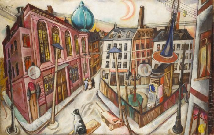 MAX BECKMANN THE SYNAGOGUE IN FRANKFURT AM MAIN, 1919