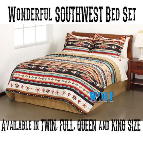 Full Size Southwestern Kokopelli Indian Blanket Western ...
