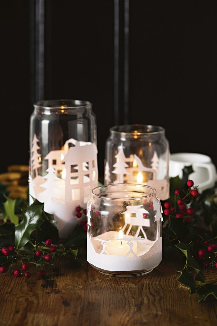 Why not add a touch of sparkle to your Christmas decorating by making our festive candle holders!