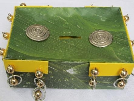 money box with earrings