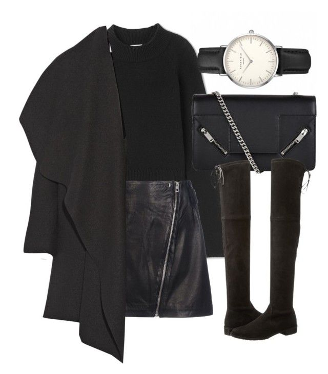 Untitled #6323 by laurenmboot on Polyvore featuring polyvore, fashion, style, Harris Wharf London, rag & bone, Stuart Weitzman, Yves Saint Laurent, ROSEFIELD and clothing