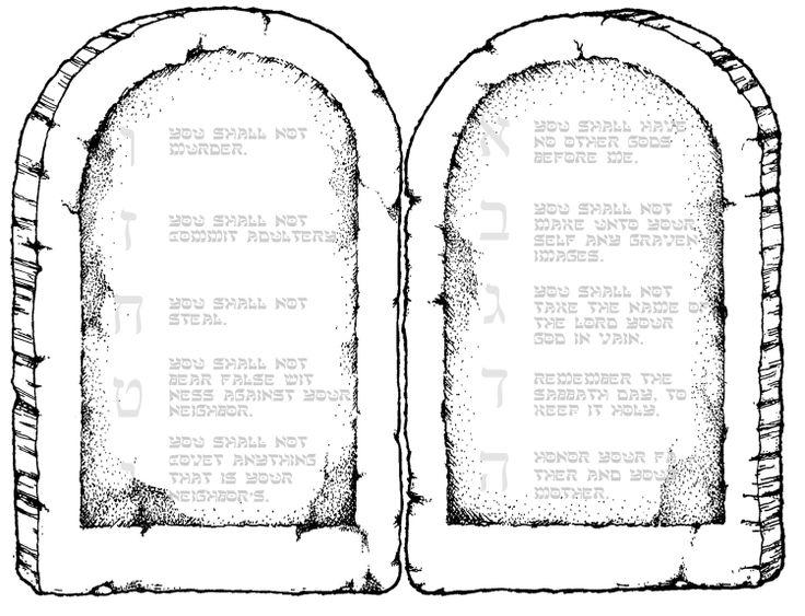 "Ten Commandments printable for 8 1/2"" x 11"" paper. Have ..."