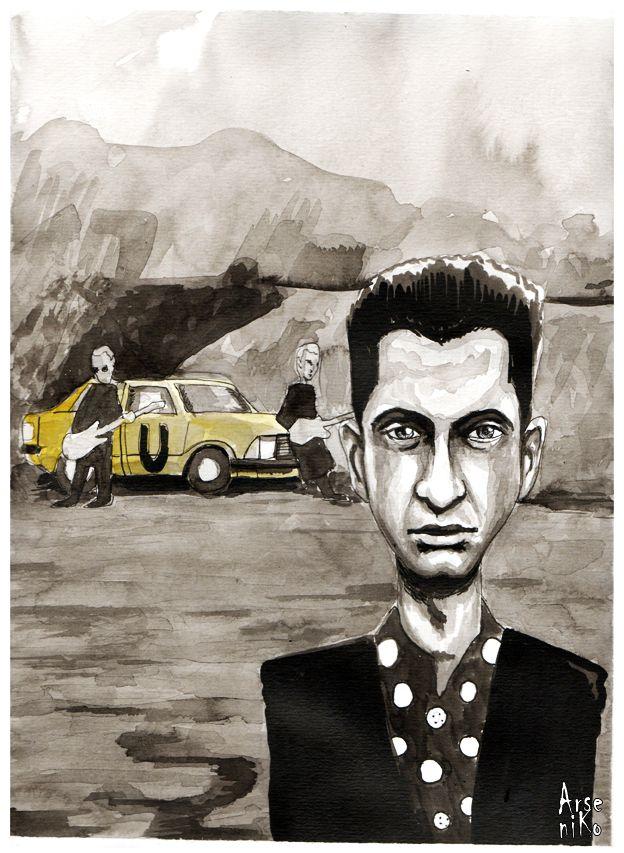 Ilustración basada en el video de #Depeche Mode -  #Useless - Artista: ArseniKo Técnica : #tinta china y acuarela.  #depechemode #ink #ilustration