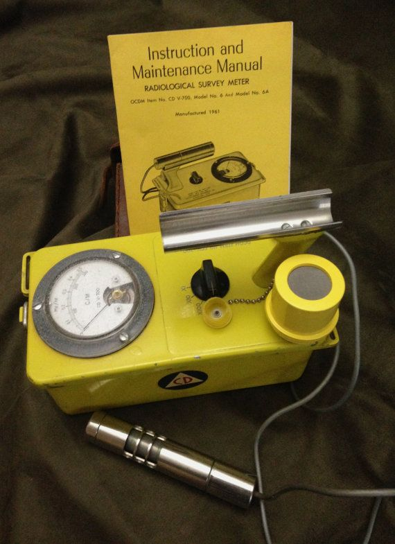 Vintage Working Geiger Counter 1960's Cold by BlackCatBoneVintage SOLD