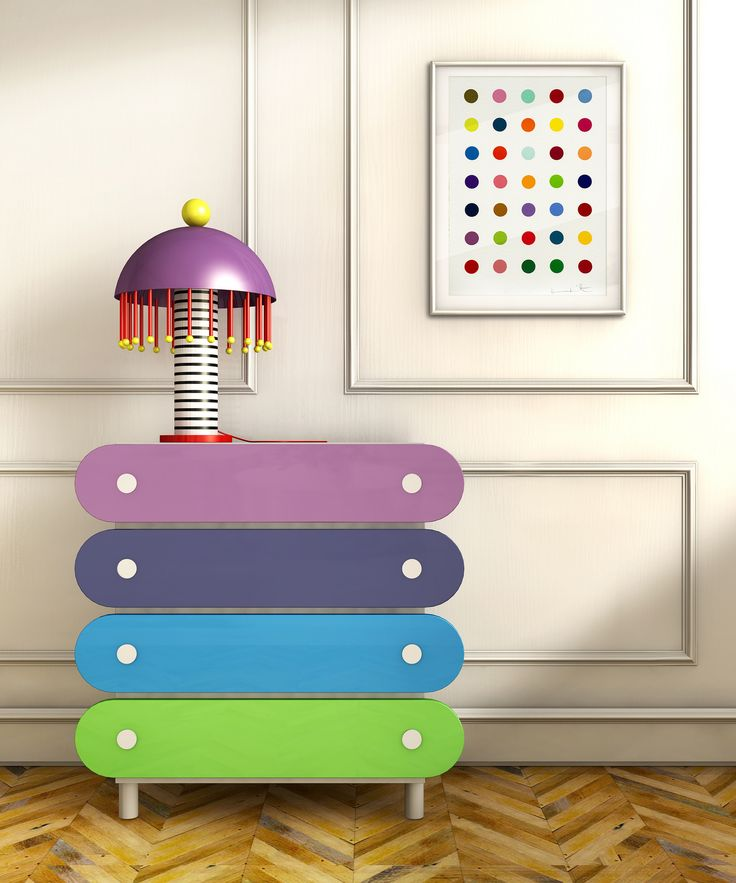 #erik chest of drawer and #josephine lamp in a #childbedroom setting, design Elena Cutolo for #altreforme #festamobile #amoveablefeast #interior #home #decor #homedecor #furniture #aluminium #woweffect #madeinItaly