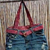 Denim Bags - via @Craftsy