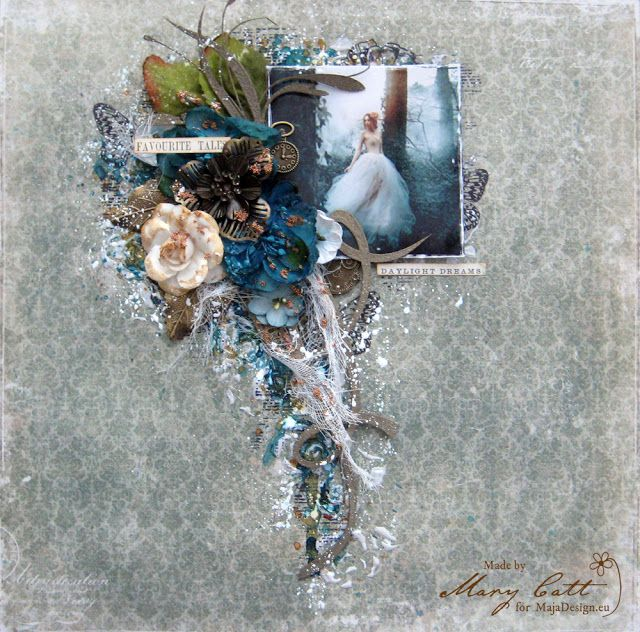 Mary's Crafty Moments: ''Favorite Tales'' - DT Layout for Maja Design Oct...