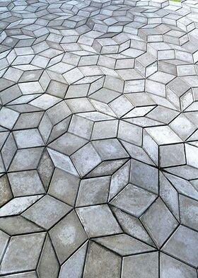 gạch lát khối hình học