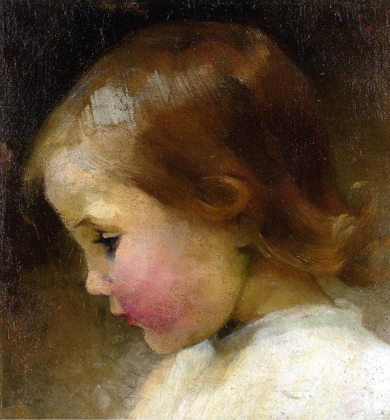 Helene Schjerfbeck (1862-1946, Finnish) Portrait of a Girl, 1887