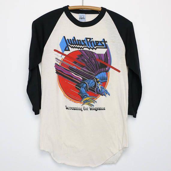 Judas Priest Shirt Vintage tshirt 1982 Screaming For Vengeance