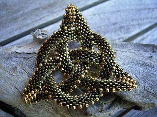Beaded Celtic knot pendant