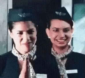 Fligt Attendant Sarcastic GIF - FligtAttendant Sarcastic GoAway - Discover & Share GIFs