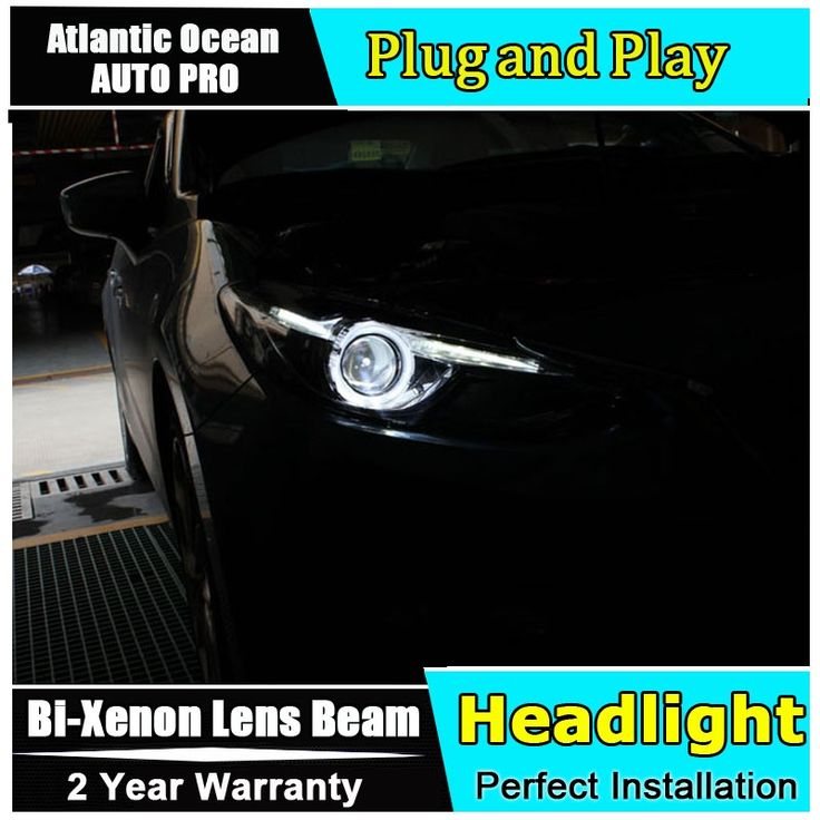 611.00$  Watch now - http://aliofj.worldwells.pw/go.php?t=32535848826 - AUTO.PRO For Mazda 3 Axela xenon headlights 2014-2016 car styling bi xenon lens low beam led DRL for mazda3 head lamps parking