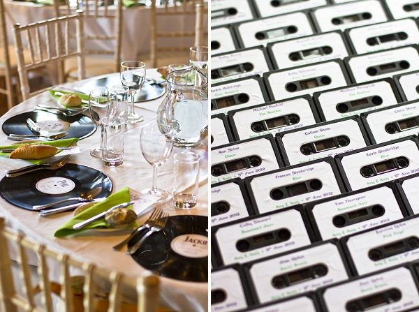 freaking cool wedding favor ideas - love the record or mix tape. Wedding Favour Ideas ~ UK Wedding Blog ~ Whimsical Wonderland Weddings