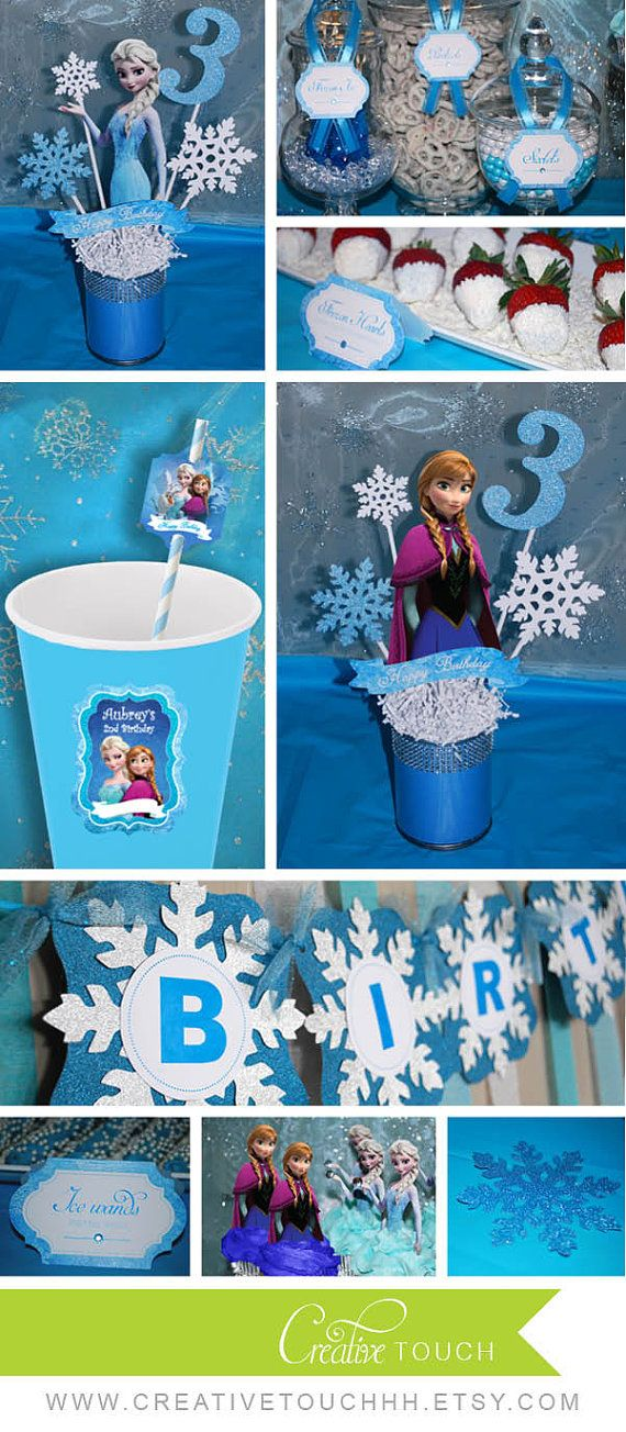 Frozen Centerpiece Elsa Centerpiece Frozen by CreativeTouchhh
