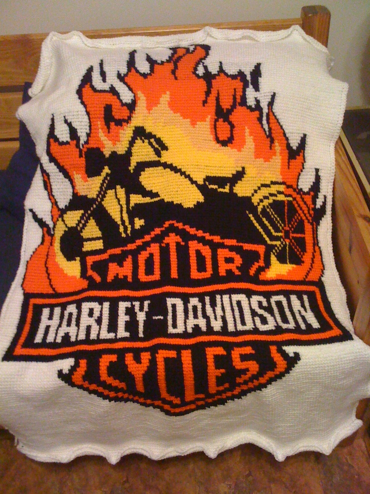 42 Best Harley An Special Afghans Images On Pinterest Embroidery