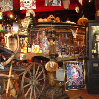 Voodoo Shop in New Orleans a stop we made before the haunted tour