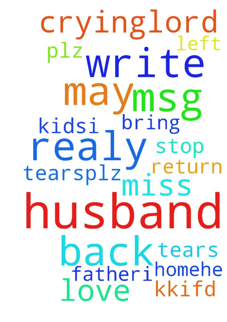 As i write this msg am in tears.plz God may my husband - As i write this msg am in tears.plz God may my husband return back home.he left me with 2 kids.i realy love him and my kkifd realy miss their father.i cant stop crying..Lord can u help me to bring my husband back. Posted at: https://prayerrequest.com/t/rxQ #pray #prayer #request #prayerrequest