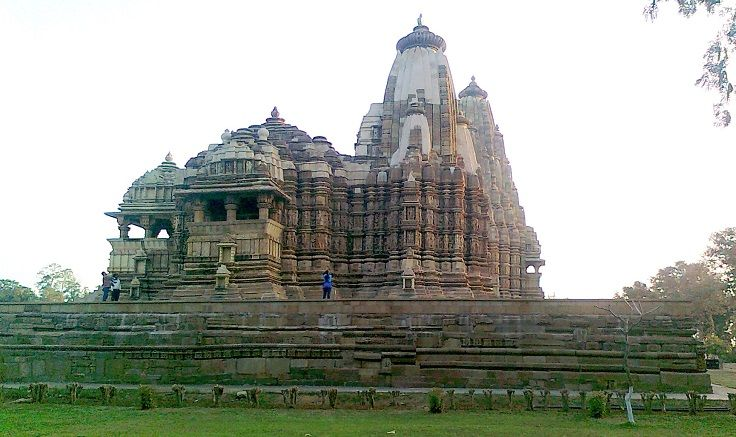 Lakshmana Khajuraho Temple is dedicated to Lord Vishnu. The sanctum contains various incarnations of Lord Vishnu.