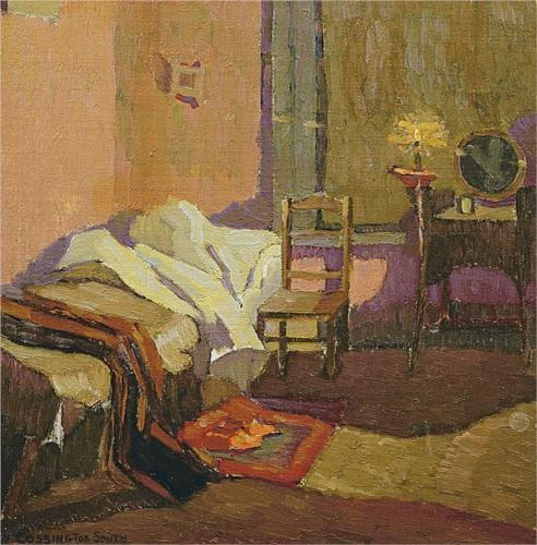 Grace Cossington Smith (1892 - 1984) | Post- Impressionism| Bed time - 1922
