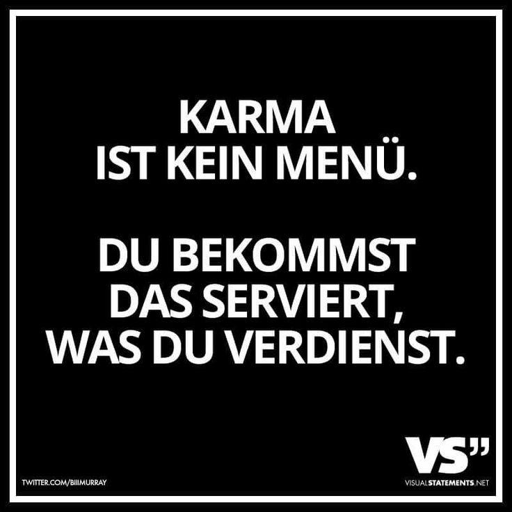 Karma ist kein Menü.