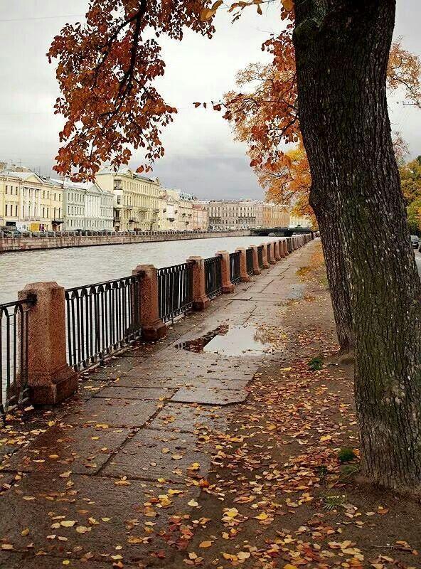 Autumn in Saint Petersburg, Russia.