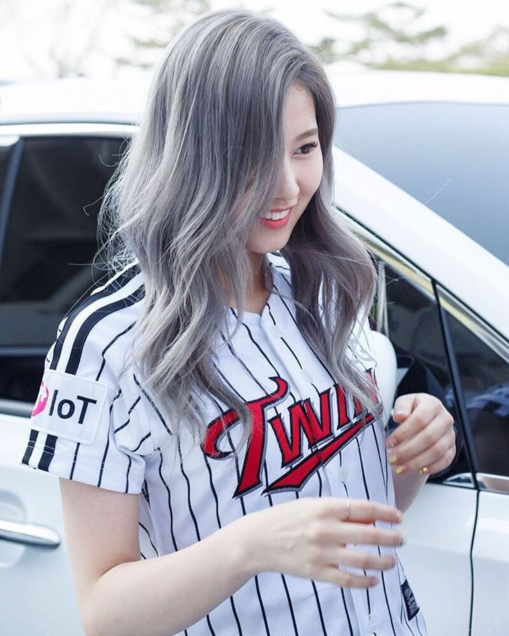 Sana from Twice Grey Hair