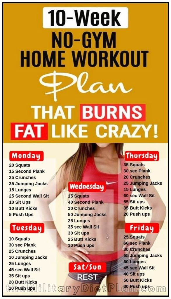 The 10 Week No Gym Home Workout Plans At Home Workout Plan Weekly Workout Plans 2 Week Workout Plan