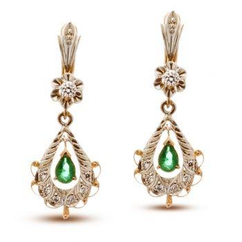 33c22ebdaa8a Эксклюзивные серьги из золота с изумрудами и бриллиантами.   Украшения из  золота   Jewelry и Bijou