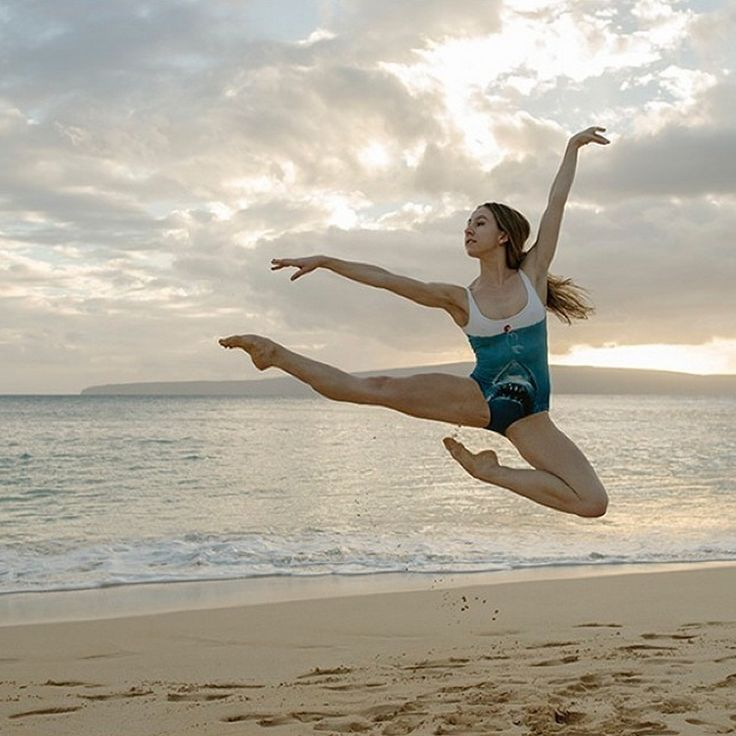 The Ballerina Project has since expanded to other places around the world. Here, a dancer jumps into a pose in Hawaii. (I love all of the photos)