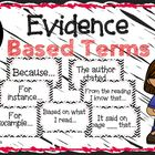 Evidence Based Terms Poster Set by Lauren Henson | Teachers Pay Teachers