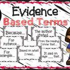 Evidence Based Terms Poster Set by Lauren Henson | Teachers Pay Teachers