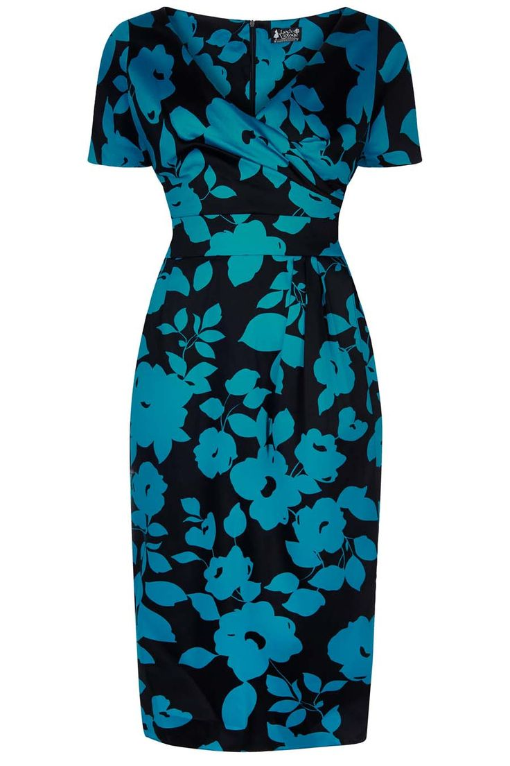 Loretta Pencil Dress in Teal