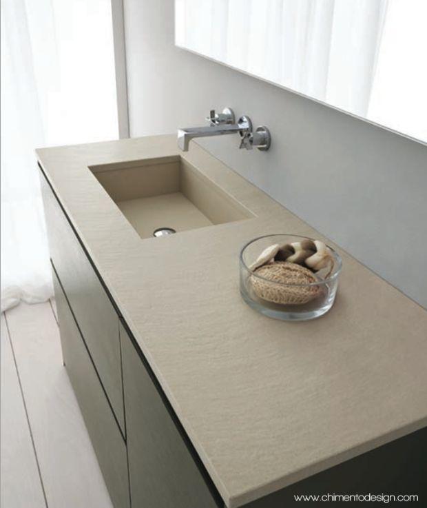 Chimento design-serie torino Top in marmo cangun con vasca integrata. Cangun marble top with integrated basin. #chimentodesign #arredo #bagno